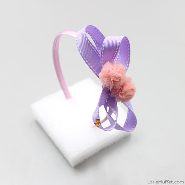 Flowery Bow - Lilac And Peach