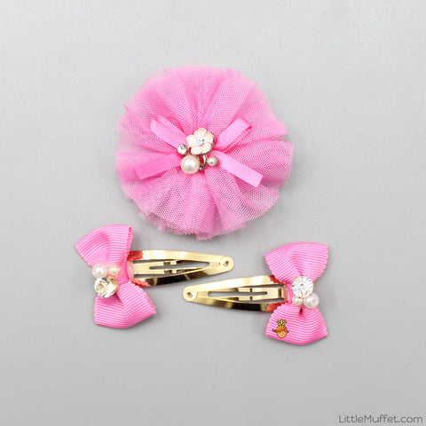 Pink Clips - Set Of 3