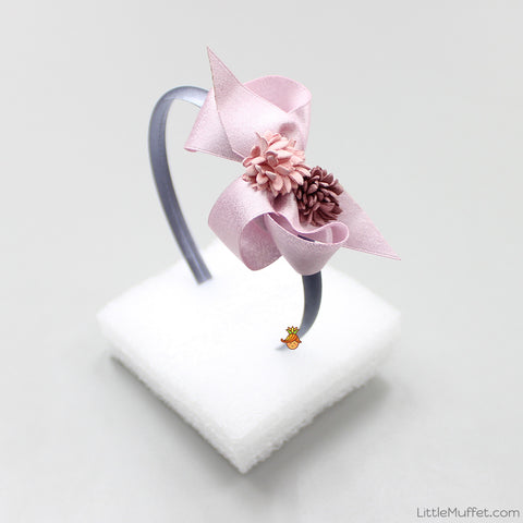 Flowery Bow - Pink