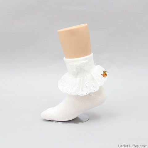 Bowy Frills Socks - White