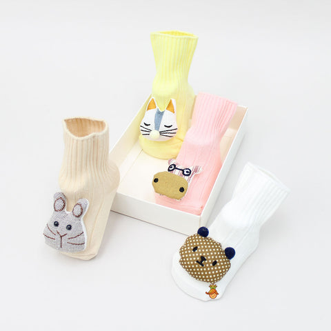 3D Animal Face 4 Socks Set - 1