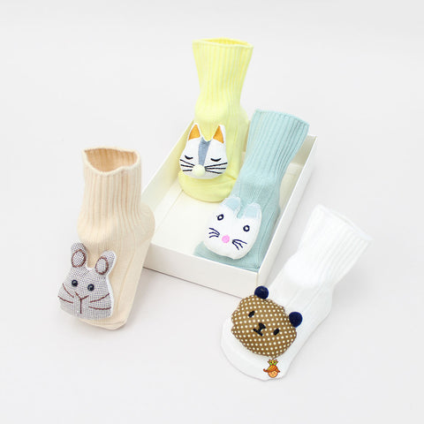 3D Animal Face 4 Socks Set - 2