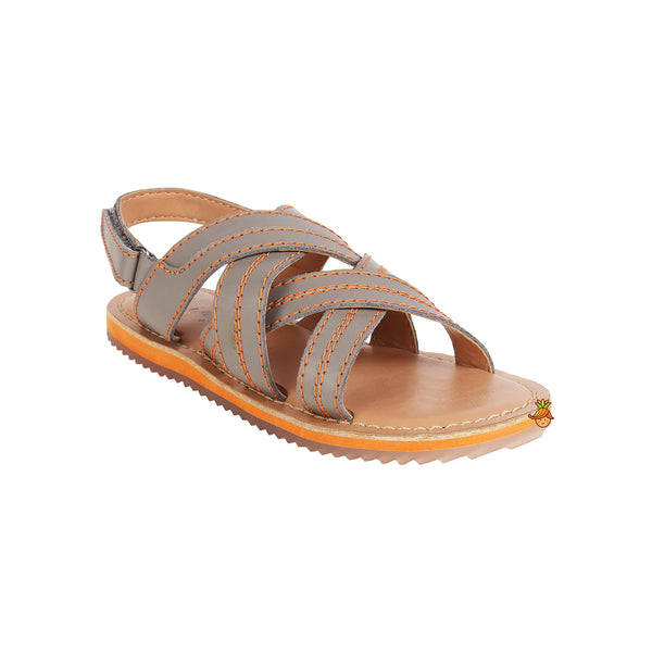 Grey Criss Cross Sandal