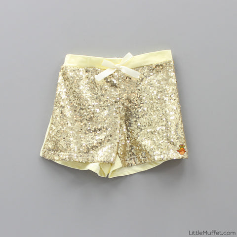 Sequin shorts - Lemon Yellow