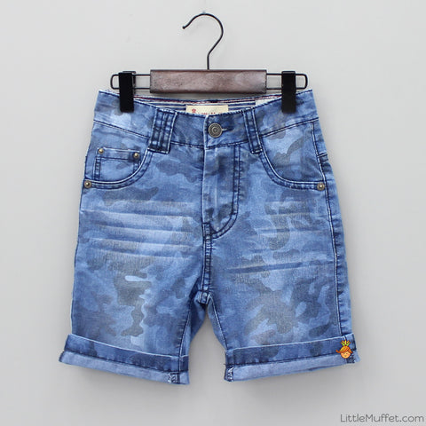 Shaded Blue Shorts