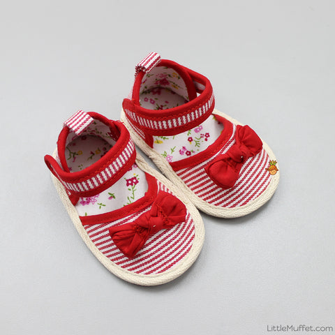 White And Red Sandals
