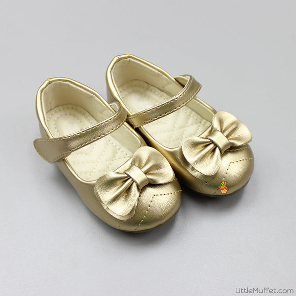 Bowy Golden Shoes