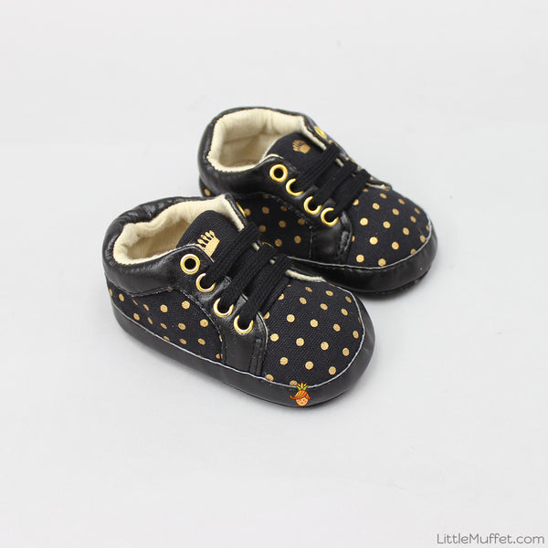 Golden Polka Booties