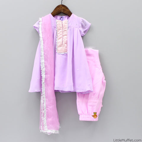 Pre Order: Lilac And Baby Pink Suit