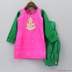 Pre Order: Hot Pink And Green Suit