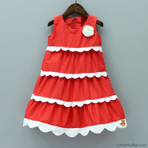 Pre Order: Red Scallop Dress