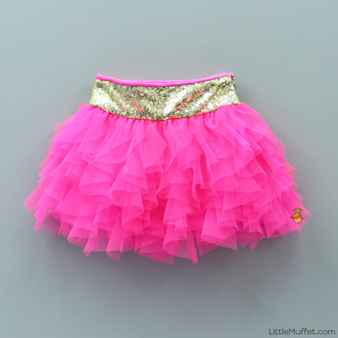 Pre Order: Frilled Tutu Skirt- Bright Pink