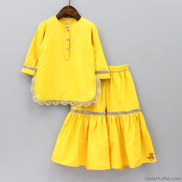 Pre Order: Yellow Sharara Set