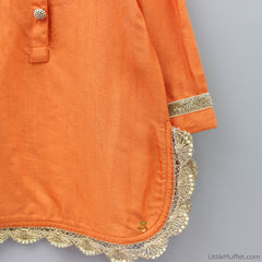 Pre Order: Orange Sharara Set