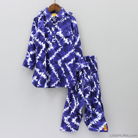 Pre Order: Pathani Suit - Duke Blue