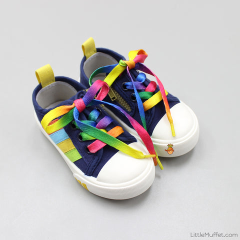 Rainbow Sneakers - Navy Blue