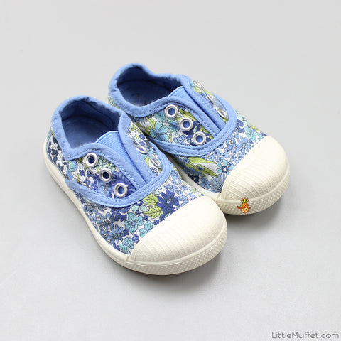 Blue Flowery Shoes