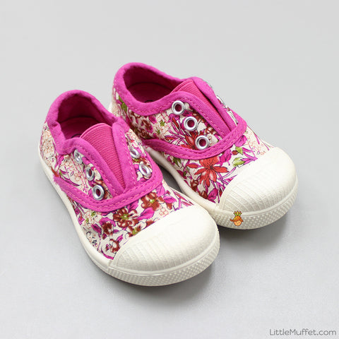 Pink Flowery Shoes