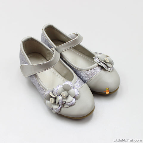 Shimmery Flower Bellies - Grey