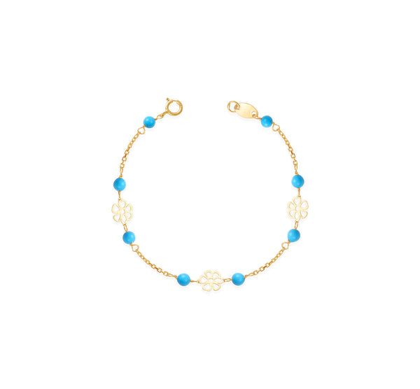 Pre Order: Turquoise In Gold Bracelet