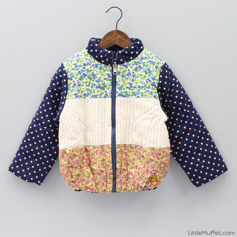 Flower And Polka Reversible Jacket