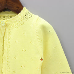 Pointelle Yellow Shrug