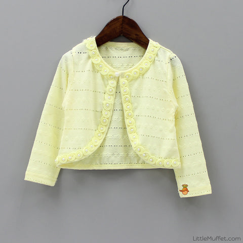 Flowery Shrug - Yellow