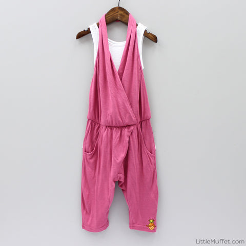 Halterneck 3/4th Jumpsuit