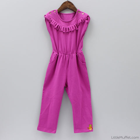 Frilly Pink Jumpsuit