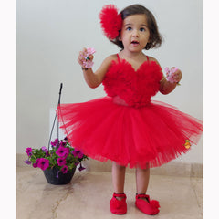 Pre Order: Ruffled Frill Party Dress