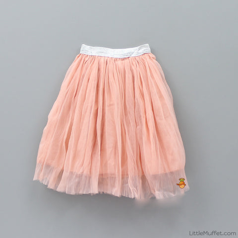 Crush Net Skirt - Peach