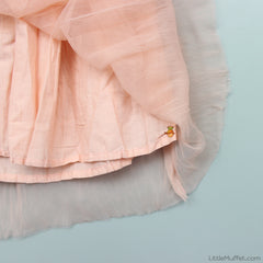 Crush Net Skirt- Peach