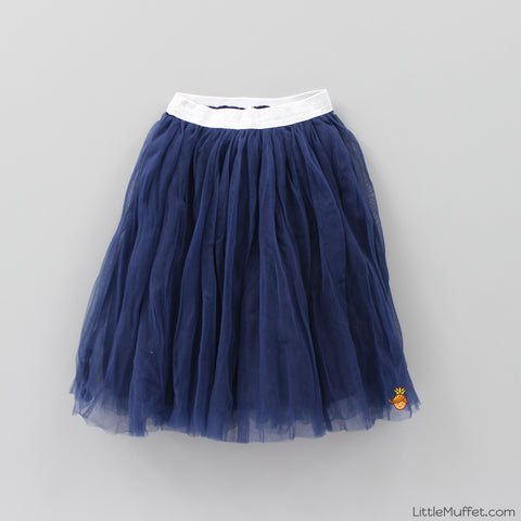Crush Net Skirt- Navy Blue