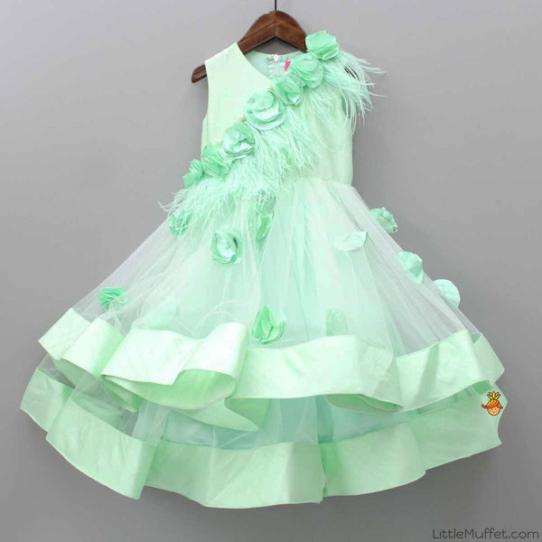 Pre Order: Green Feather Gown