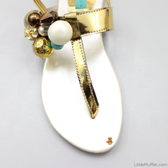 Multicolour Stones Sandals