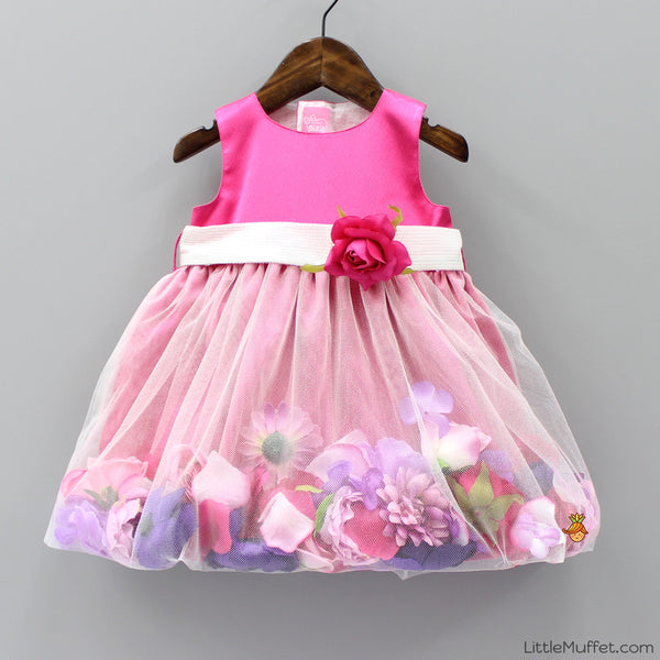 Pre - Order - Secret Garden Dress- Raspberry Rose