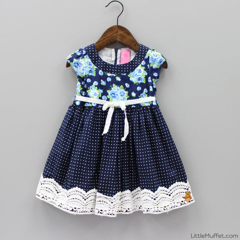 Pre Order: French Rose dress in Blue belle