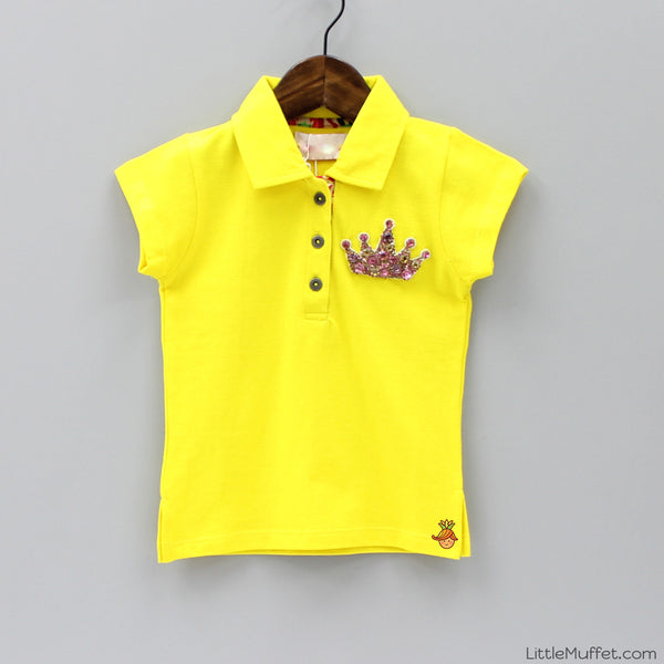 Pre Order: Yellow Top With Crown