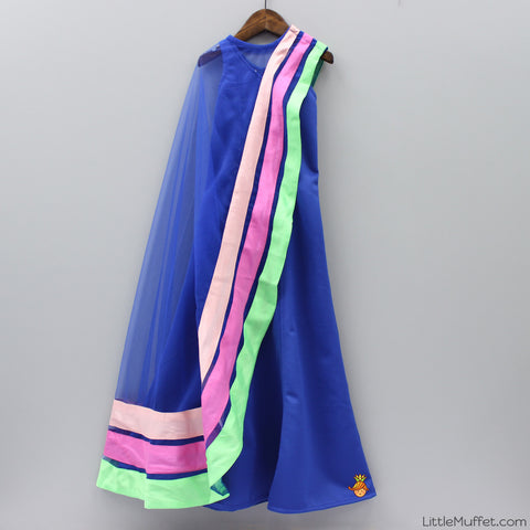 Pre Order: Blue Scuba Gown With Cape