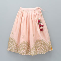 Pre Order: Pink Choli And Ghagara With Dupatta