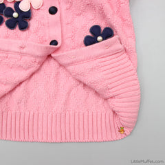 Flowery Pink Sweater