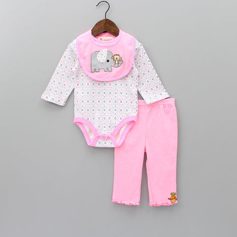Playful Animal - 3 Piece Bodysuit Set