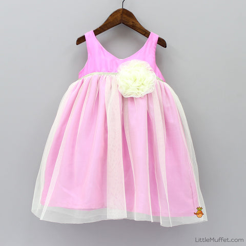 Pre Order: Angel Party Dress - Pink And Yellow