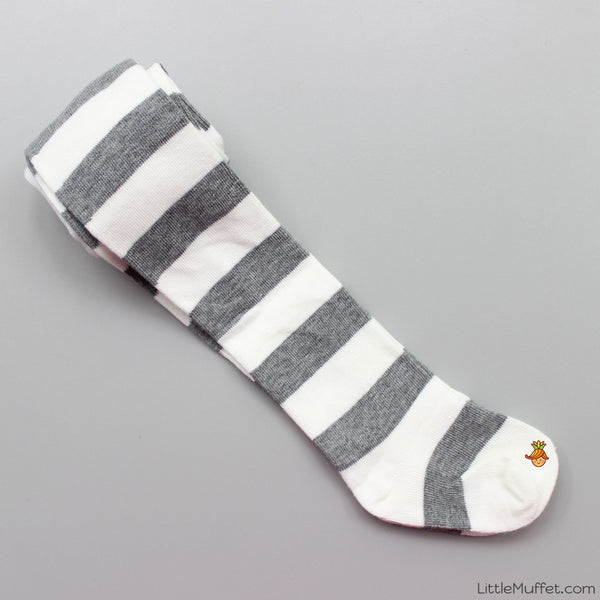 White And Grey Stripes Stockings