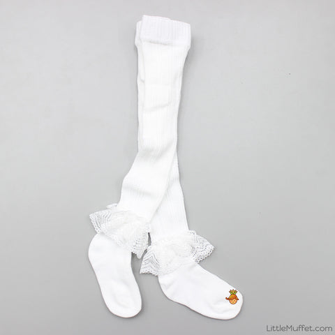 Frilly Stockings - White