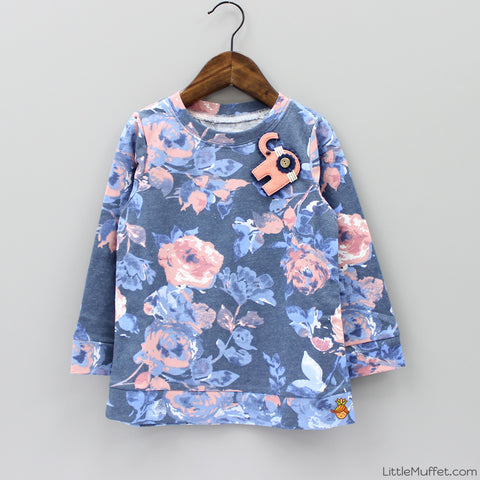 Printed Flower Top