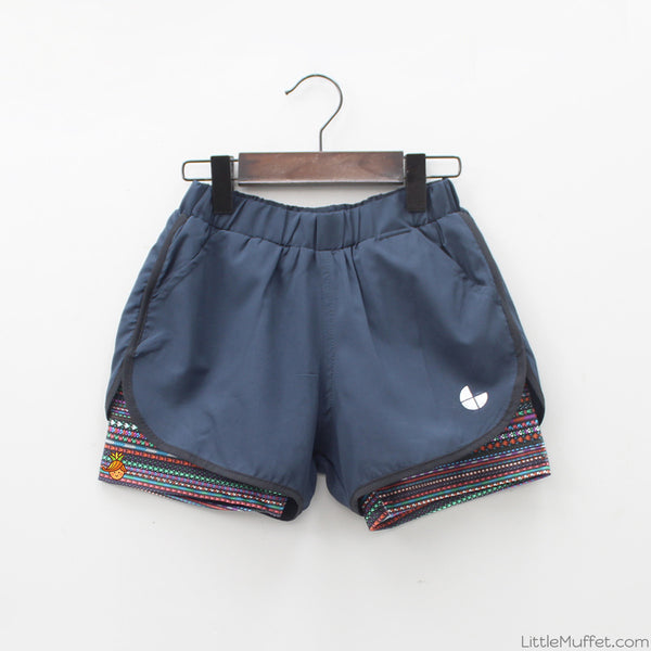 Sporty Knit Shorts With Printed Inners