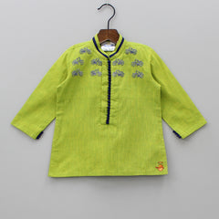 Pre Order: Cycle Embroidered Kurta With Churidar