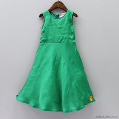 Pre Order: Green Gown With Peplum Top