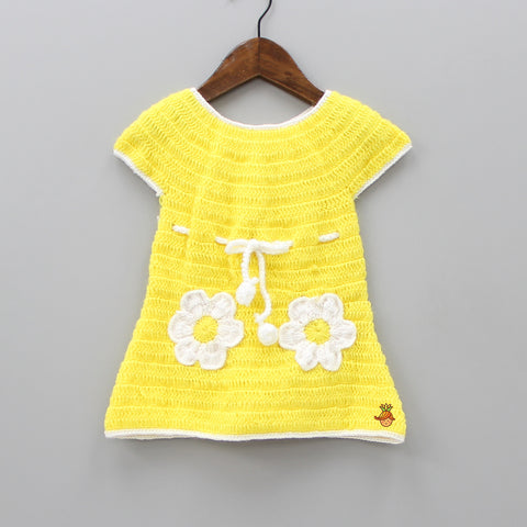 Yellow Knitted Sweater Dress